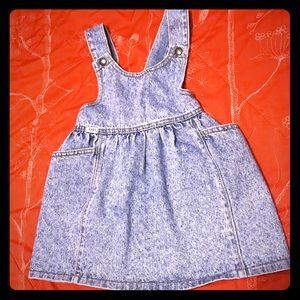 Denim Bib Style Dress